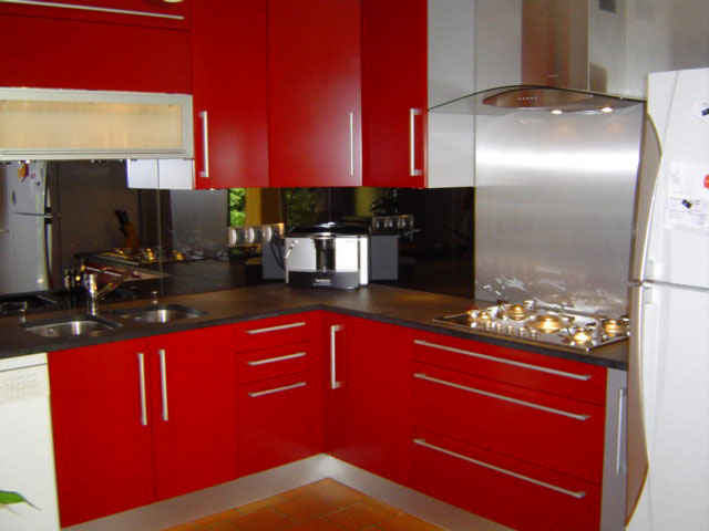 Cuisine dessin cr dence cuisine stratifi e or cuisine - Credence rouge pour cuisine ...