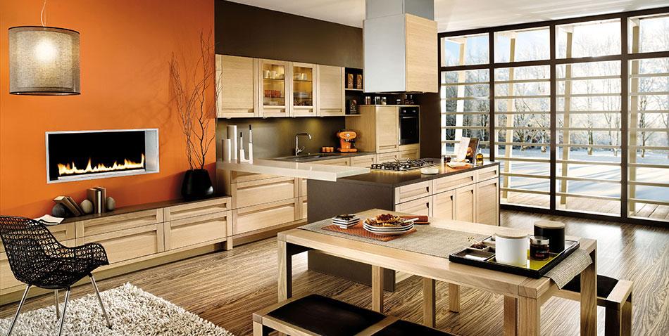 Cuisine eos ch ne blanchi cuisines chaleureuses - Cuisine bois blanchi ...
