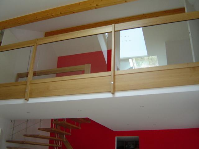 Garde Corps Bois Verre : Escalier suspendu design, escalier contemporain mod?le NOVA