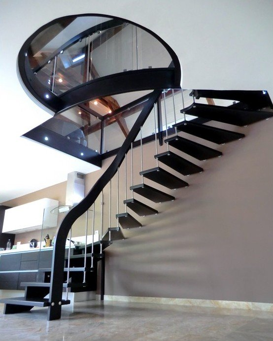 awesome modele escalier moderne ideas awesome interior home satellite. Black Bedroom Furniture Sets. Home Design Ideas
