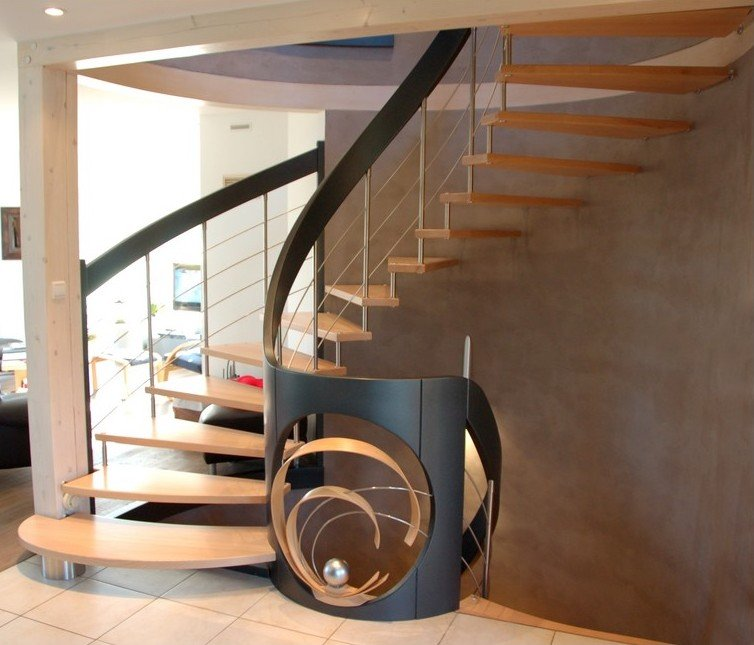 Escalier suspendu design escalier contemporain mod le nova for Escalier interieur design