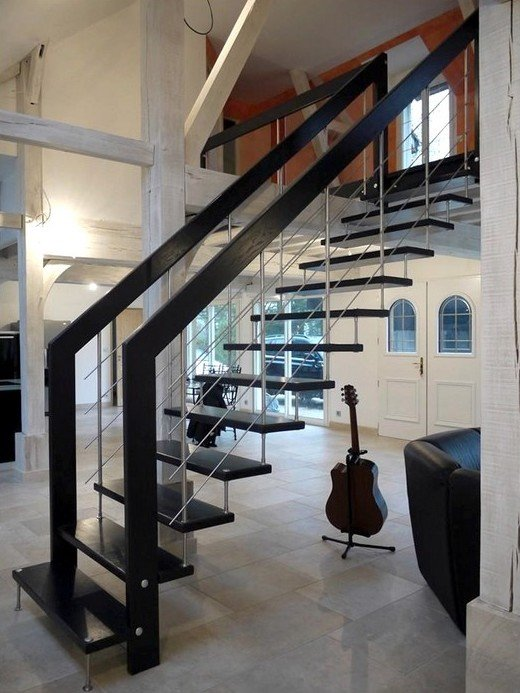 escalier sans rampe awesome crdit photo the zhush with escalier sans rampe exemple duescaliers. Black Bedroom Furniture Sets. Home Design Ideas